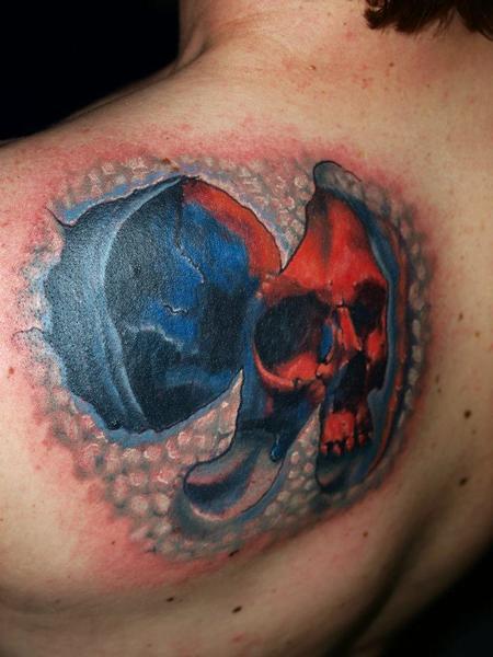 Tattoos - bio skull - 72620