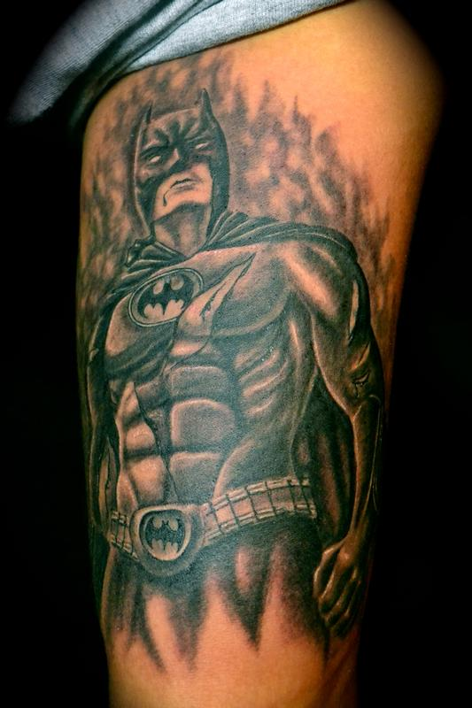 Tattoos - Batman Bruised an Bloodied - 58218