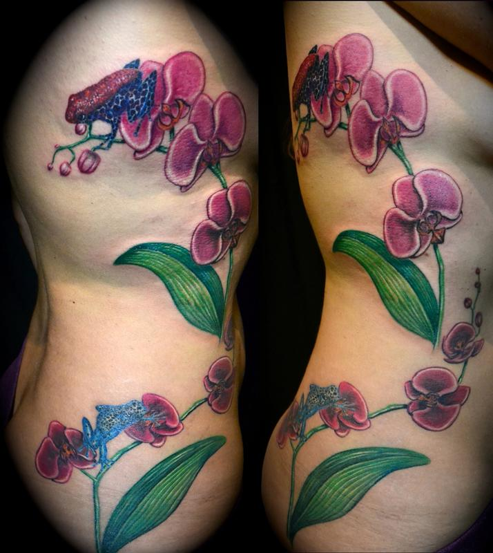 Tattoos - Orchids and Poison Dart Frogs - 60312