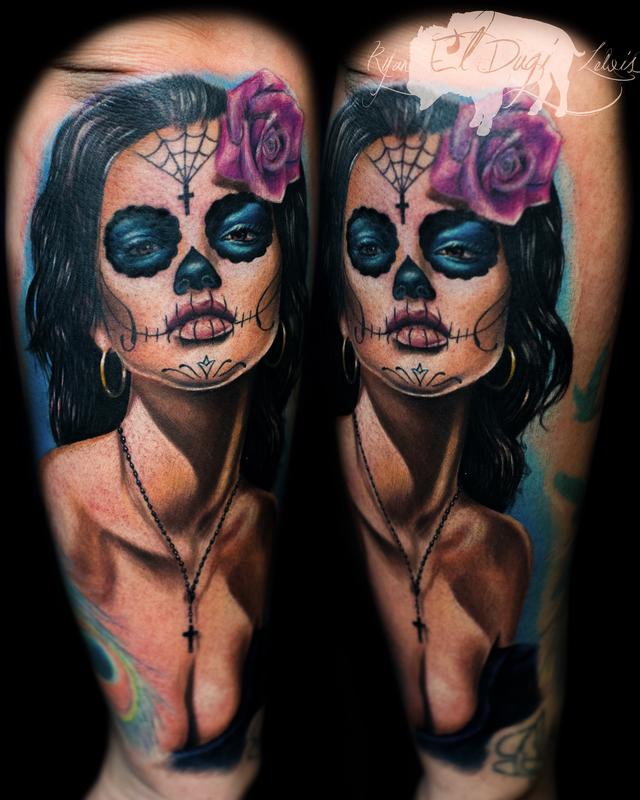Tattoos - Day of the Dead girl  - 116703