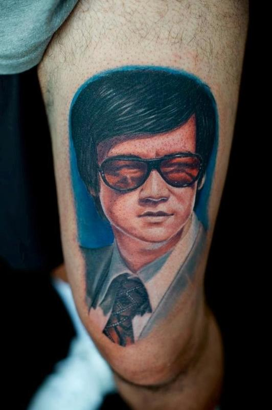 Tattoos - Bruce Lee with stunner shades Glasses - 79687