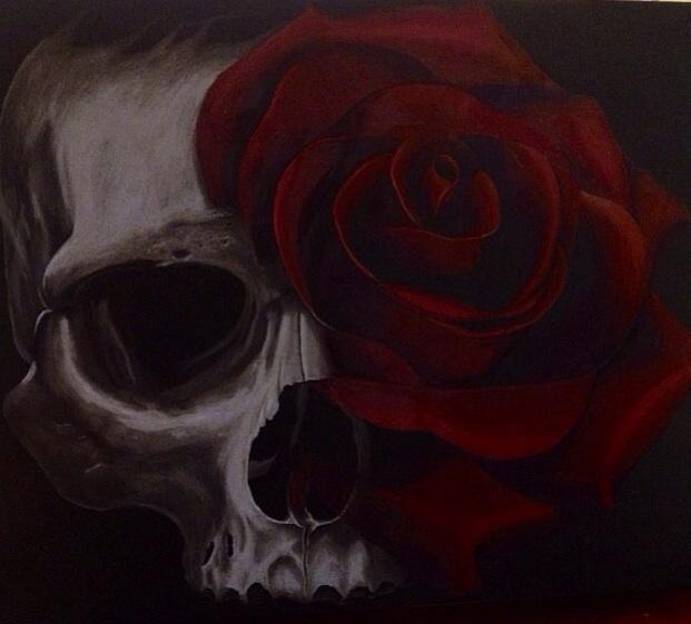 Tattoos - Skull Rose  - 82360