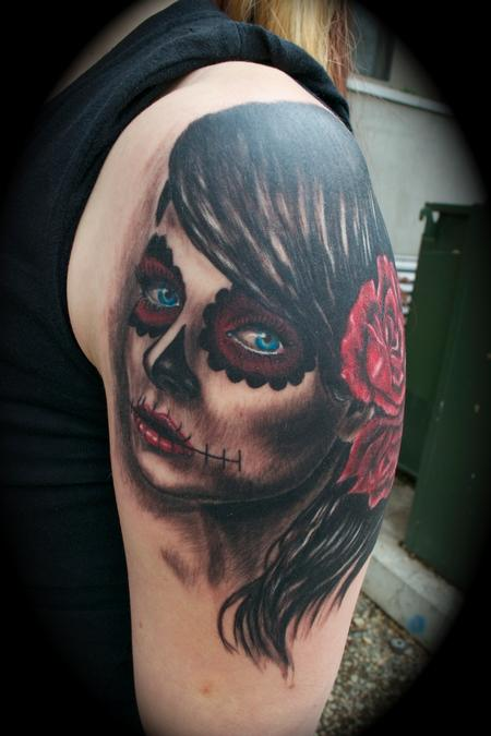 Ryan El Dugi Lewis - Day of the Dead Girl Blue Eyes Roses