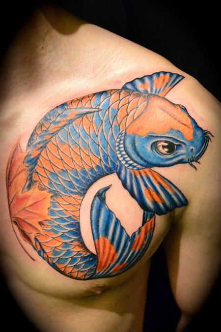 Koi Tattoo Chest