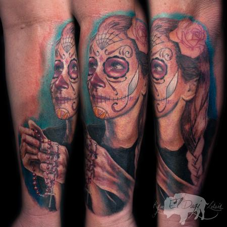 Ryan El Dugi Lewis - Day of the Dead Portrait
