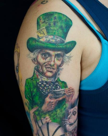 Mad hatter portrait  Tattoo Design Thumbnail