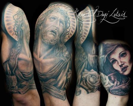 Tattoos - Religious Sleeve  - 89550