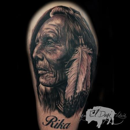 Native Warrior Tattoo Design Thumbnail