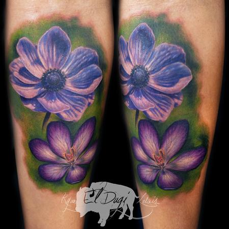Color Flowers  Design Thumbnail