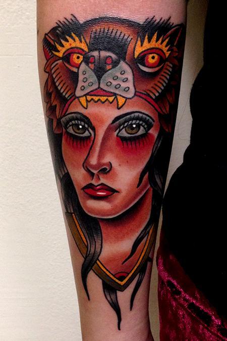 Tattoos - bear lady tattoo - 80744