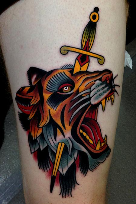 tiger dagger tattoo Tattoo Design Thumbnail