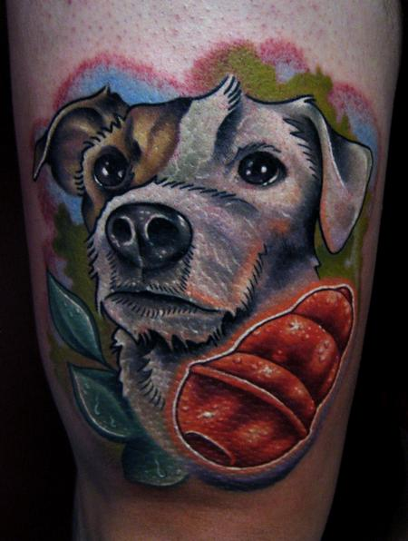 dog & kong toy tattoo Tattoo Design Thumbnail