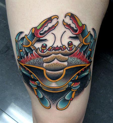 Tattoos - blue crab tattoo