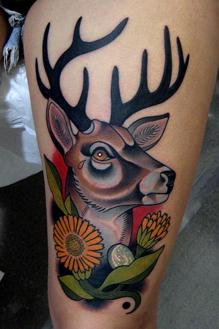 deer tattoo Tattoo Design Thumbnail