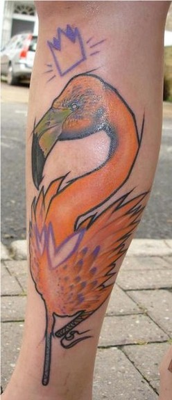 Tattoos - Custom Flamingo Tattoo - 52487