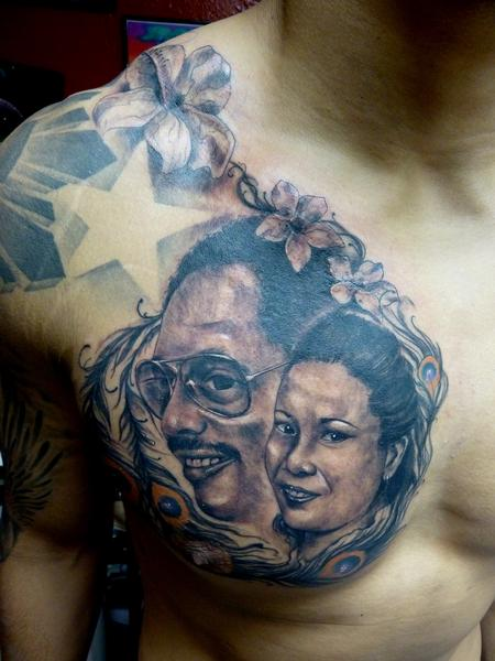 Tattoos - black and gray portrait - 64556