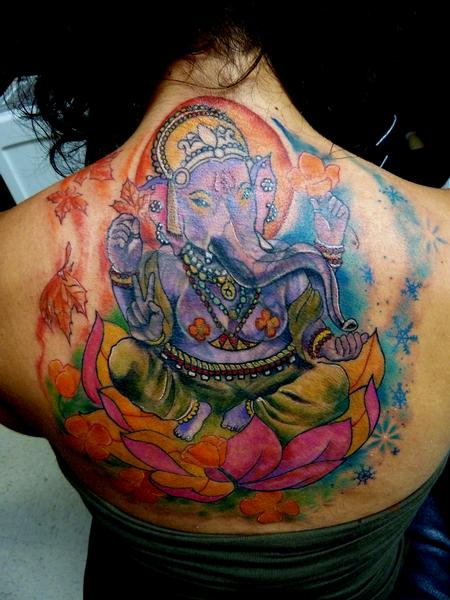 Tattoos - Ganesh Coverup - 68939