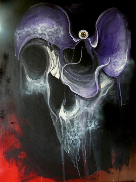 Tattoos - Orchid skull - 66663