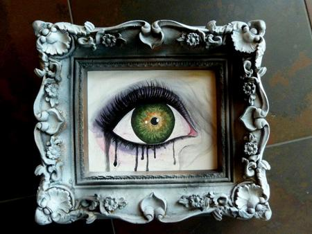 Tattoos - Framed eye - 64131