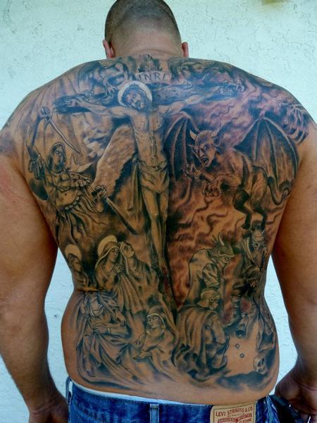 Tattoos - Religous fullback tattoo - 67083