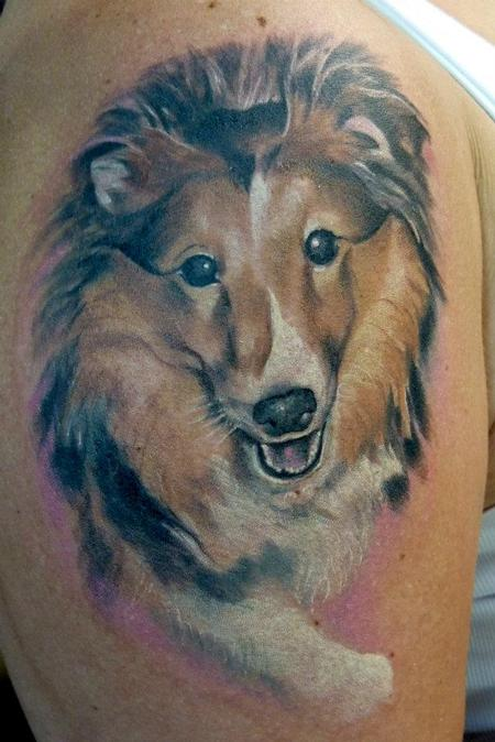 Tattoos - Dog portrait tattoo - 64109