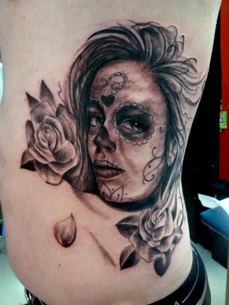 Tattoos - Day of Dead Girl Tattoo - 63580