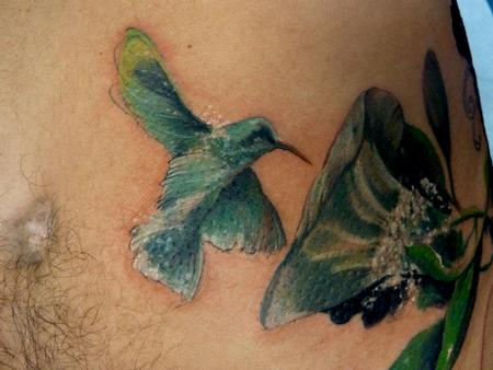 Tattoos - Hummingbird closeup - 64102
