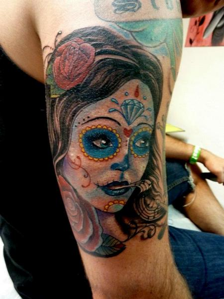 Tattoos - Day of the dead girl - 64080