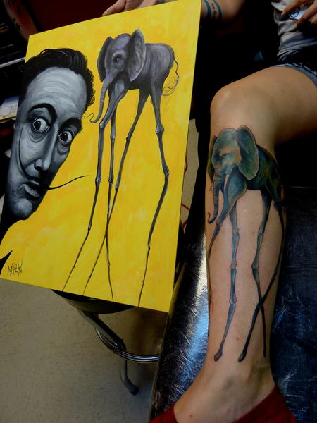 Tattoos - Salvador Dali Elephant - 71690