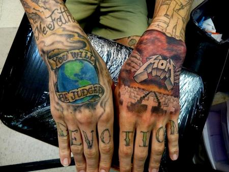 Tattoos - Metallica tattoo hands - 64081