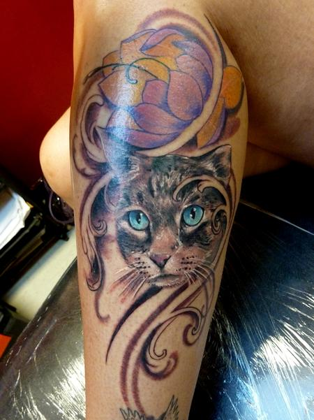 Tattoos - Cat tattoo - 79905
