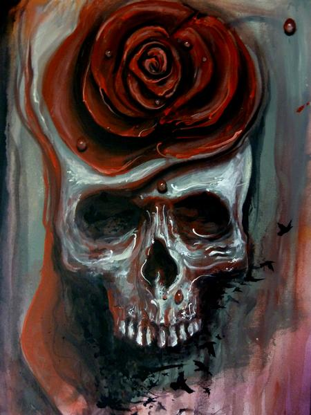 Tattoos - Skull Rose - 68943