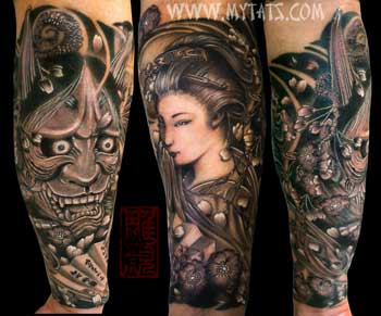 Tattoos - Geisha and Hannya - 29422