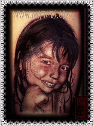 Tattoos - Girl Portrait - 29287