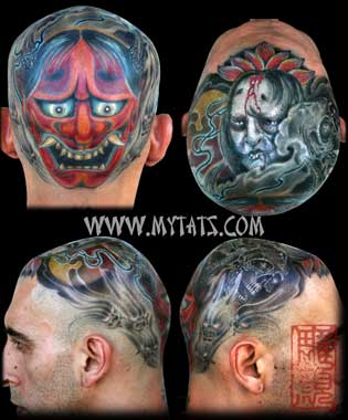Tattoos - Hannya on Head - 29423