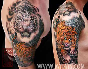Tattoos - Tiger and Skulls - 29483