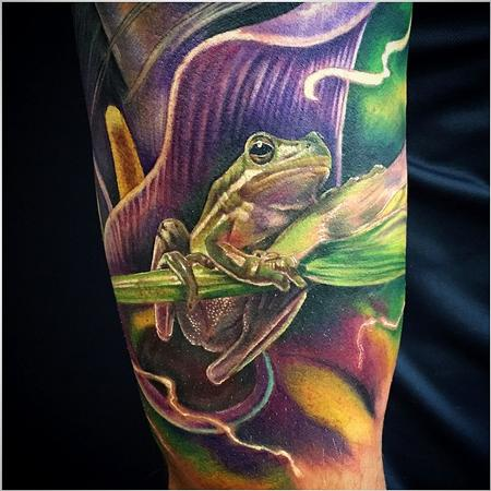 Tattoos - Rana realista a color - realistic frog in color - 117453