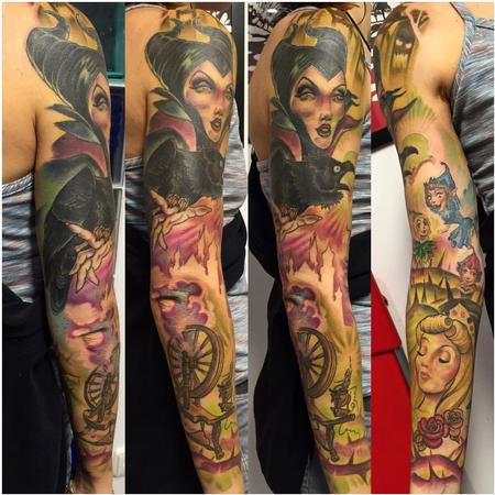 Tattoos - manga entera con malefica - 117505