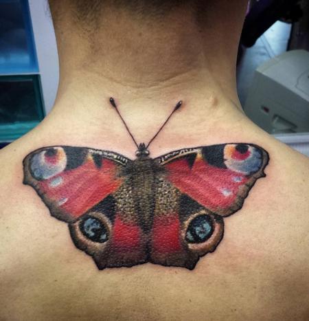 Tattoos - Mariposa realista a color - 117528