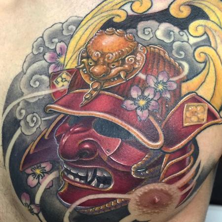 Tattoos - Mascara de samurai a color - 117509