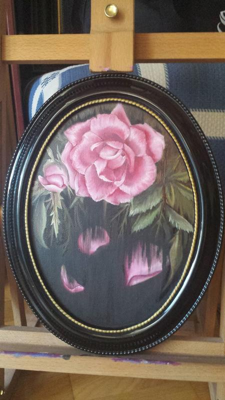 Tattoos - Oil Painting of a Rose Withering - 125760