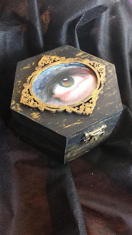 Tattoos - Oil Painting of an Eye in a Box - 125761