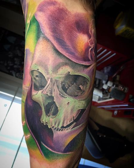 Tattoos - Color skull - 119345