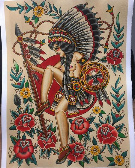 Tattoos - Traditional Sun Dance - 123237