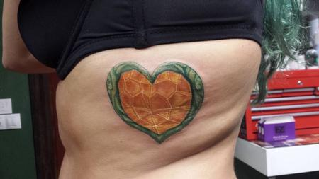 Tattoos - Heart Container Zelda Color - 123582