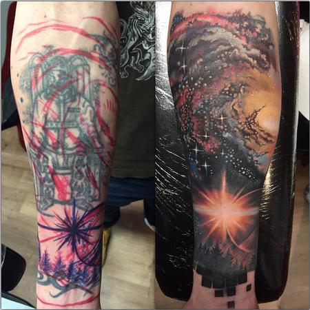 Tattoos - Cover-up Space Theme Color - 123639