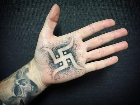 Tattoos - Dotwork Swastika - 124935