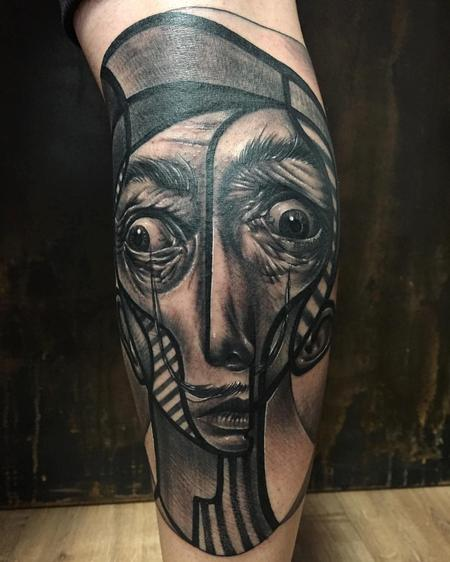 Tattoos - Neo-Cubist Portrait of Dal� - 125567