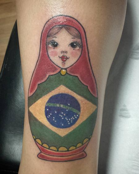 Tattoos - Brazilian Matrioshka in Color - 127504