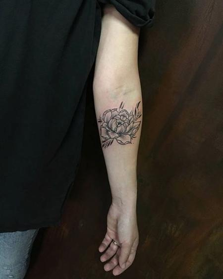 Tattoos - Line and Dotwork Flower - 127816